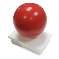 Aluminum Colonial Post End Cap - Red w/ Ball