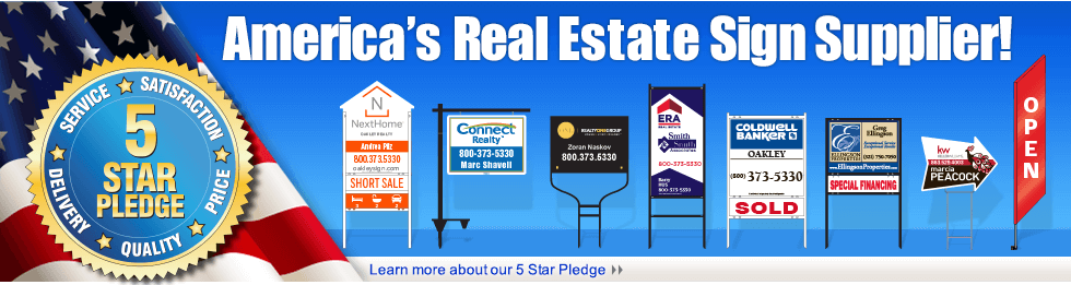 Real Estate Signs Yard Signs Custom Banners Realtor Signs
