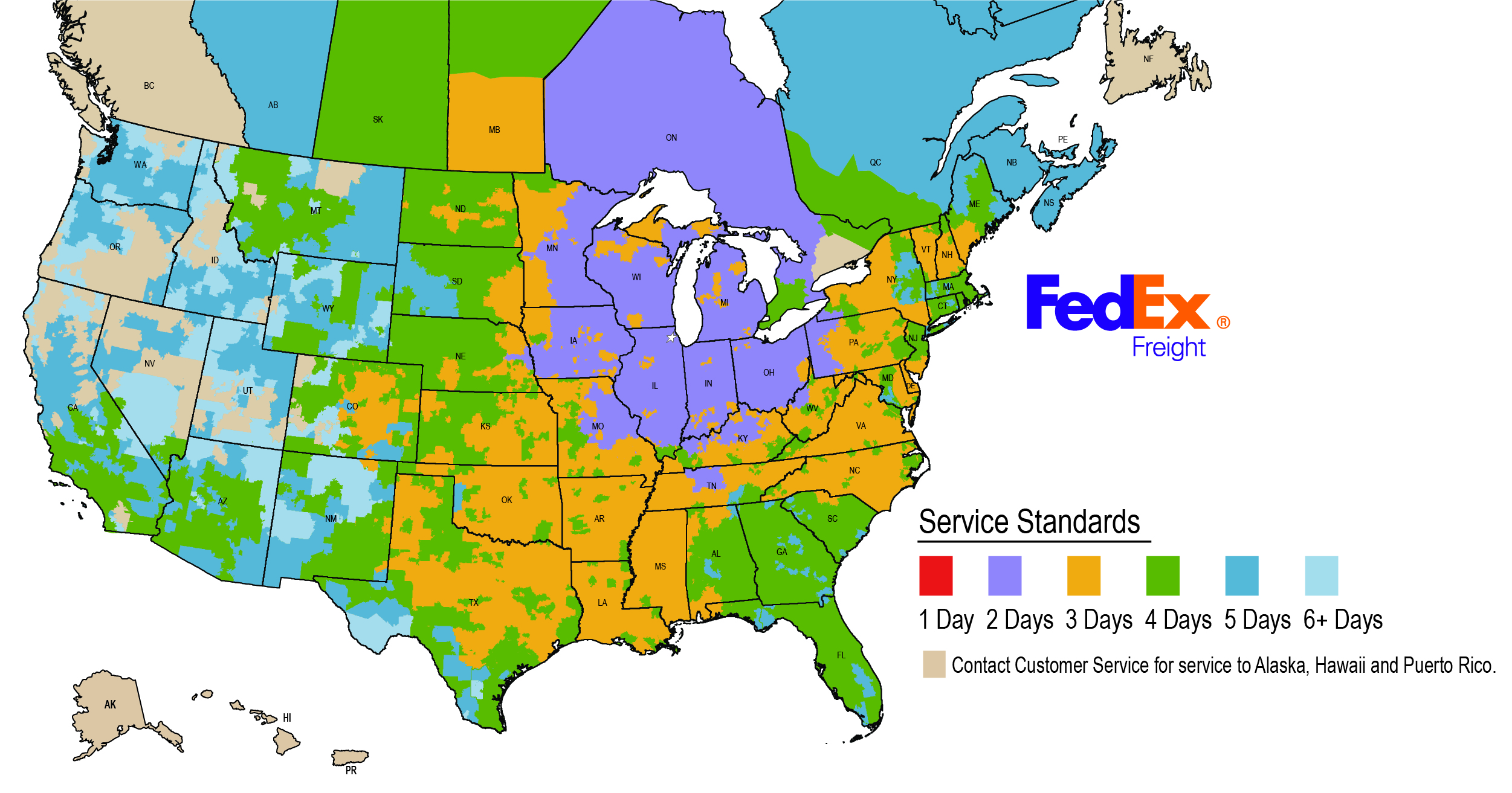 Fedex Map Image